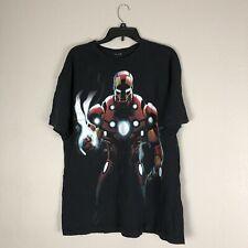 Iron Man Marvel Super Hero Shirt Black