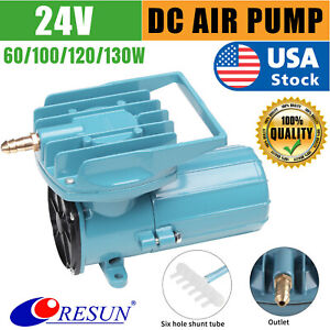 DC Air Pump Aerator Oxygen Inflator 24V 60/130W 140LPM Aquarium Fish Tank Pond