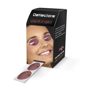 Disposable SunBed Solarium Tanning Eye Protection Stick on UV Deflector Goggles