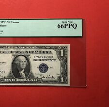 1935D -$1 SILVER CERTIFICATE NOTE,GRADED BY PCGS GEM NEW 66 PPQ