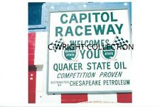 1970s NHRA Maryland Drag Racing-CAPITOL RACEWAY Sign-March,1971-Ghost Dragstrip