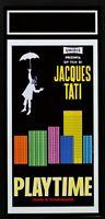 Cartel Playtime Jacques Tati Tiempo Por Diversión Play Time Cine Película N44