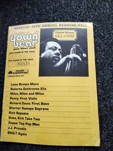 DOWN BEAT JAZZ MAGAZINE -  DECEMBER 23 1971 READERS POLL CHARLES MINGUS MILES