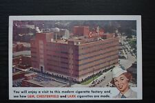 Postcard Advertising Chesterfield Factory Durham North Carolina USA Unposted