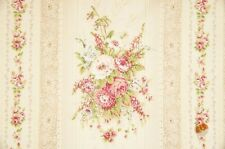 Quilt Gate Cottage Shabby Chic Mary Rose Jessica 2130-12A Cream Floral Stripe YD