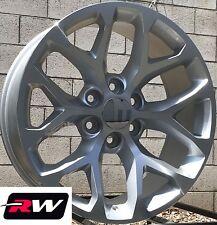"20 x9"" inch GMC Sierra 1500 OE Replica Snowflake Wheels Silver Machined Rims"