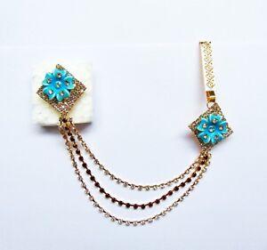 Indian Women Ethnic Jewelry Hip Chain Brooch Waist Side Belt Sari Kamar Bandh
