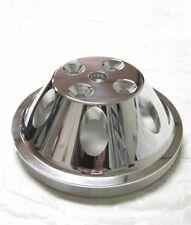 Small Block Mopar Polished Aluminum Single Groove Upper Water Pump Pulley Dodge