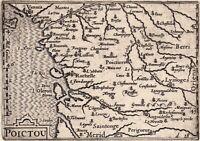Carte Géographique XVIIe Île de Ré Charente Maritime Île d'Oléron Poitou 1618