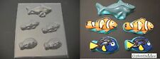 Finding NEMO SHARK DORY Tang Clown Fish Chocolate Candy Soap Clay Mold