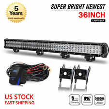"""DUAL-ROW 36"""" Inch 4992W LED Light Bar Combo OFFROAD 4WD TRUCK ATV Driving Lamp"""