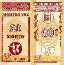 MONGOLIA 20 Mongo Banknote World Paper Money UNC Currency Pick p-50 Small Note