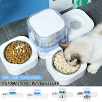 Automatic Pet Cat Single Double Bowl Dog Feeder Drinking with Water Dispenser