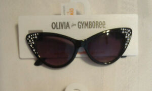 Gymboree Black Gem Olivia Sunglasses NWT Size 2 4