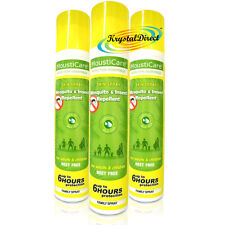 3x MoustiCare Mosquito & Insect Repellent Aloe Vera Spray FAMILY 125ml Deet Free