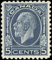 Mint NH Canada 1932 F-VF Scott #199 5c King George V Medallion Issue Stamp