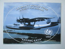 AUTOCOLLANT STICKER AUFKLEBER DORNIER DO-24 KAYANG KAYA ATT WORLD TOUR UNICEF