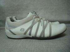 CLARKS UK 7 D WHITE LEATHER LEISURE SHOES