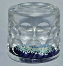 Whitefriars 1976 Millefiori Ball Cut Cylinder Glass Paperweight