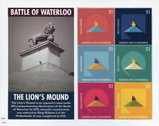 Micronesia 2015 MNH Battle of Waterloo Lion's Mound 6v M/S Military Stamps