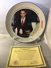 """FIRST EDITION - """" THE INAUGURATION """" 44th President Barack Obama  Plate EC"""