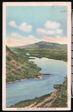 WASSATAQUOIK ME MAINE Lake Mountain Vtg Wissataquoik PC Postcard