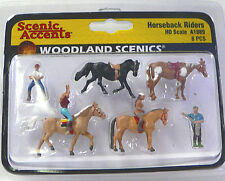 HO Scale Model Railroad Trains Woodland Scenics Horseback Rider Figures 1889