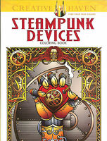 Steampunk Devices -A Creative Haven Adult Coloring Book from Dover Publications