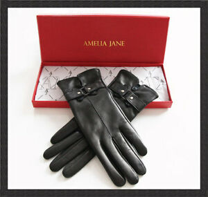 Ladies Soft Lambskin Gloves - Silk Lined