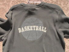 Basketball Waffle Knit T-Shirt Youth Size 18 in Army Green - New