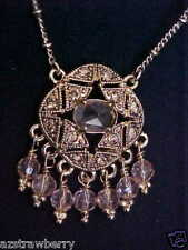 MONET GOLD TONE CRYSTAL CHARM PENDANT CHAIN NECKLACE NEW