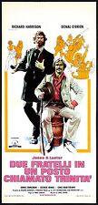 2 FRATELLI IN UN POSTO CHIAMATO TRINITA' LOCANDINA WESTERN 1972 PLAYBILL POSTER