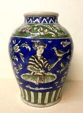 Orient/Art Ottoman/Dynastie Kadjar/XIXÈME/Grand Vase À Décor Naturaliste.