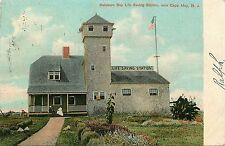 New Jersey, NJ, Near Cape May, Delaware Bay Life Saving Station 1907 Postcard