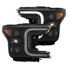 ANZO for 18-19 Ford F-150 Projector Headlights w/Plank Style Switchback Black w/