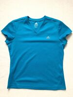 Adidas Blue Athletic Workout T-Shirt Womens Size M