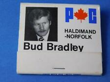 PC PROGRESSIVE CONSERVATIVE BUD BRADLEY HALDIMOND NORFOLK MATCHBOOK VINTAGE