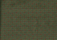 Designer Fabric Squares Rust Gold Green Upholstery