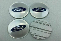 For Ford 4Pcs 65mm Car Wheel Center Hub Caps Emblems Stickers Logo Accessories