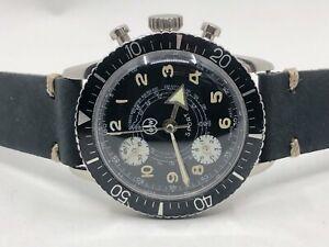 Vintage Ollech Wajs Divers Chronograph Swiss Mens Watch (Lap timer)