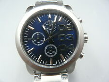 NEW OLD STOCK DIESEL 40MM CHRONOGRAPH BLUE FACE STAINLESS STEEL QUARTZ MEN WATCH