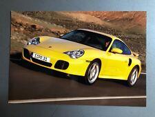 2000 Porsche Turbo Coupe Full Color Werkfoto Press Photo Factory Issued RARE LF