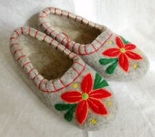 Russian Valenki 100% Wool Slippers Handmade Healthy Felt Shoes Footwear * UK 9.5