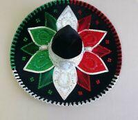 """MEXICAN MARIACHI HAT, 5 DE MAYO CHARRO , SOMBRERO , COSTUME , 22"""" ONE SIZE.MEXIC"""