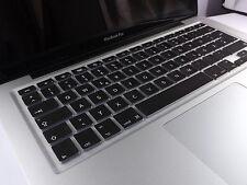 Cubierta de silicona protector teclado macbook air pro QWERTZ negro nuevo