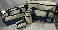 SOHO Diaper Bag Tote Insulated Milk Set Travel Navy Polka DotEllie & Luke  NWOT