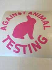 Against animal testing,car decal/sticker for windows,bumpers,panels or laptops