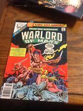 John Carter Warlord of Mars Annual #1 (Oct 1977, Marvel) very good