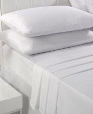 Draps-housses blanches pour le lit en 100% coton