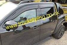 Nissan Navara NP300 Window Visors / Deflectors / Guards 2016-20 Models x4 Pieces
